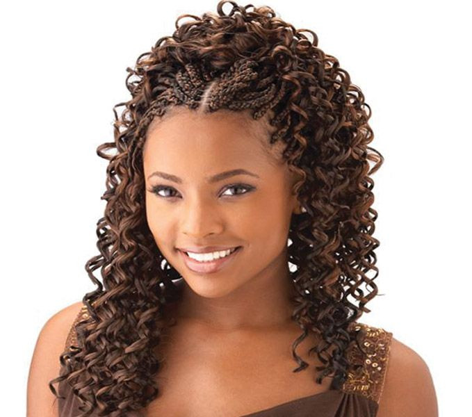 Best ideas about Curly Braids Hairstyle . Save or Pin cornrow with curly weave Now.