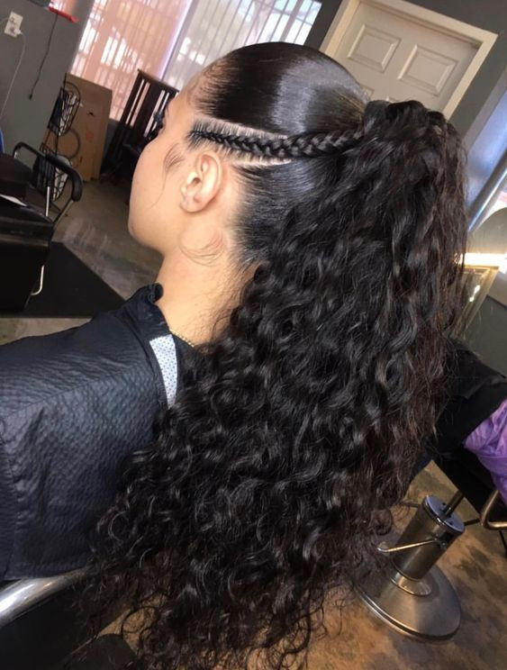 Best ideas about Curly Weave Ponytail Hairstyles . Save or Pin 360 Pre Plucked Lace Frontal Wig with Baby Hair Around Now.