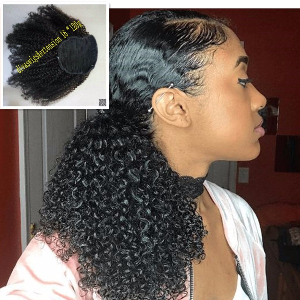 Best ideas about Curly Weave Ponytail Hairstyles . Save or Pin Afro Kinky Curly Weave Ponytail Hairstyles Clip ins Now.