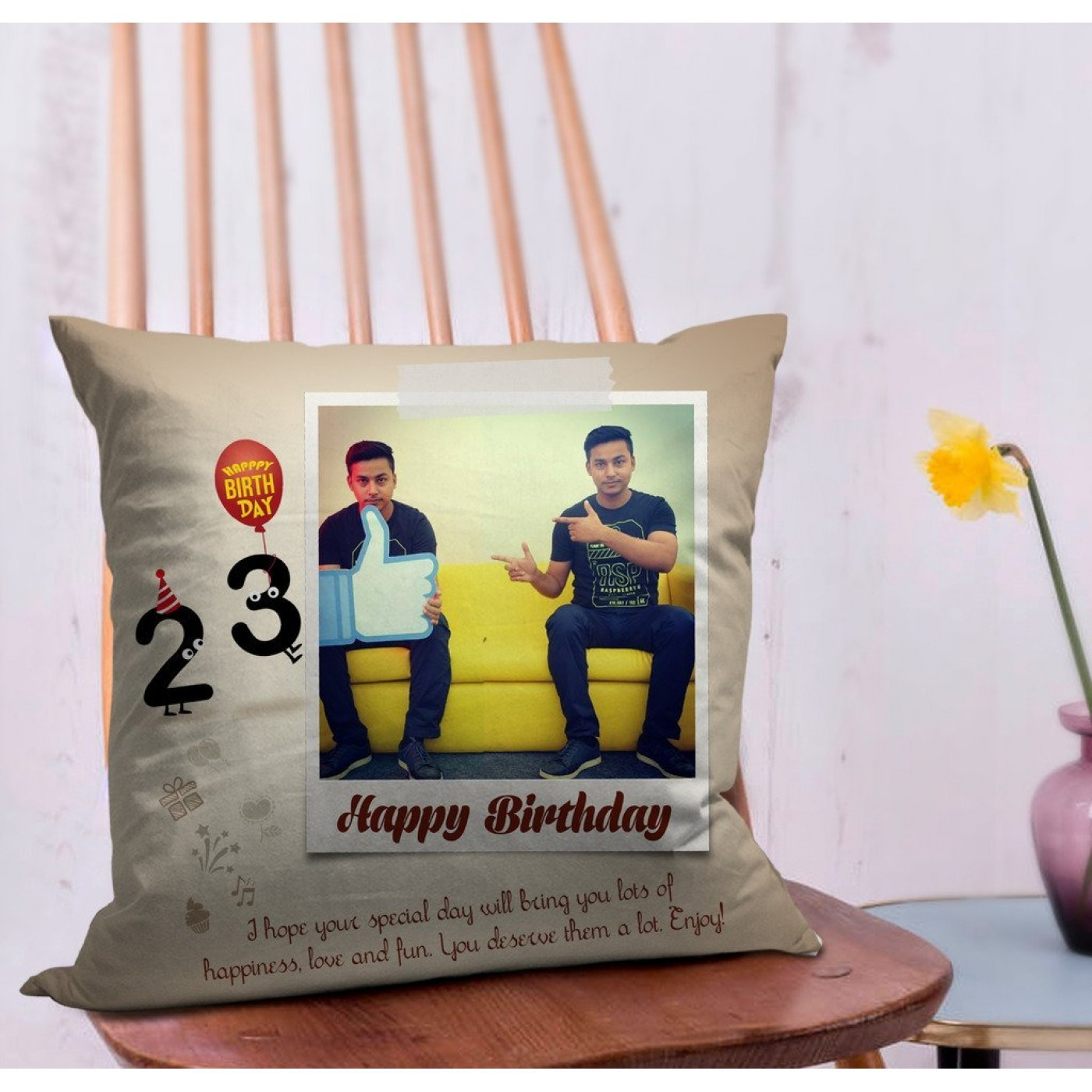 Best ideas about Custom Birthday Gifts . Save or Pin Birthday Gift for Boyfriend Personalized Cushion Now.