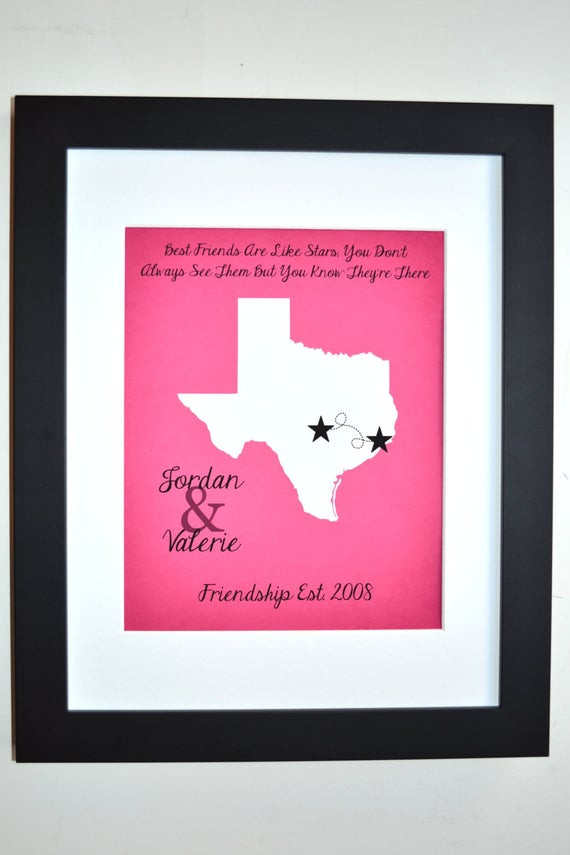 Best ideas about Custom Birthday Gifts . Save or Pin Best Friend Birthday Gift Personalized BFF Bestie Present Now.