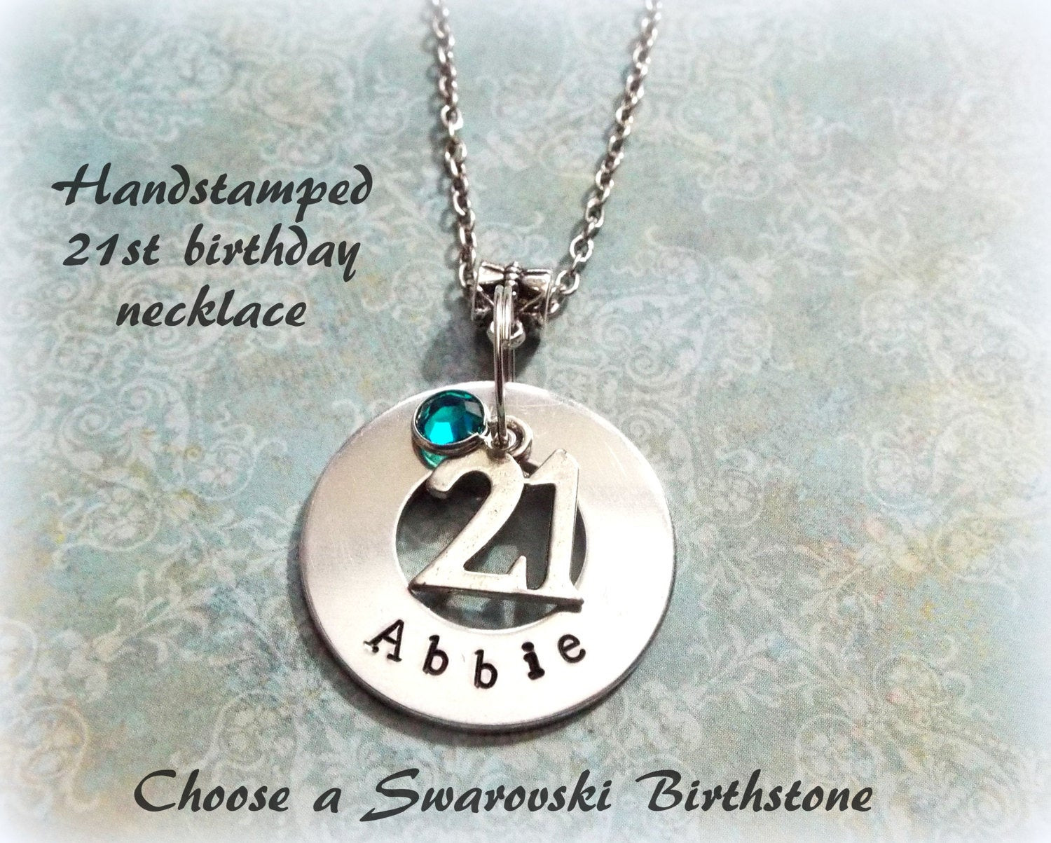 Best ideas about Custom Birthday Gifts . Save or Pin 21st Birthday Gift Personalized Handstamped Gift for 21st Now.