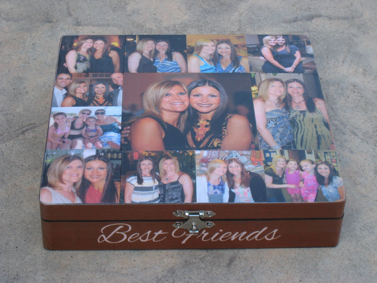 Best ideas about Custom Birthday Gifts . Save or Pin Best Friends Collage Keepsake Box Unique Maid of Honor Now.