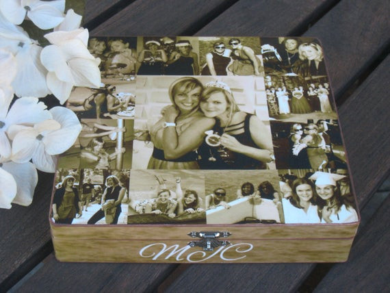 Best ideas about Custom Birthday Gifts . Save or Pin Maid of Honor Collage Keepsake Box Sister Gift Personalized Now.