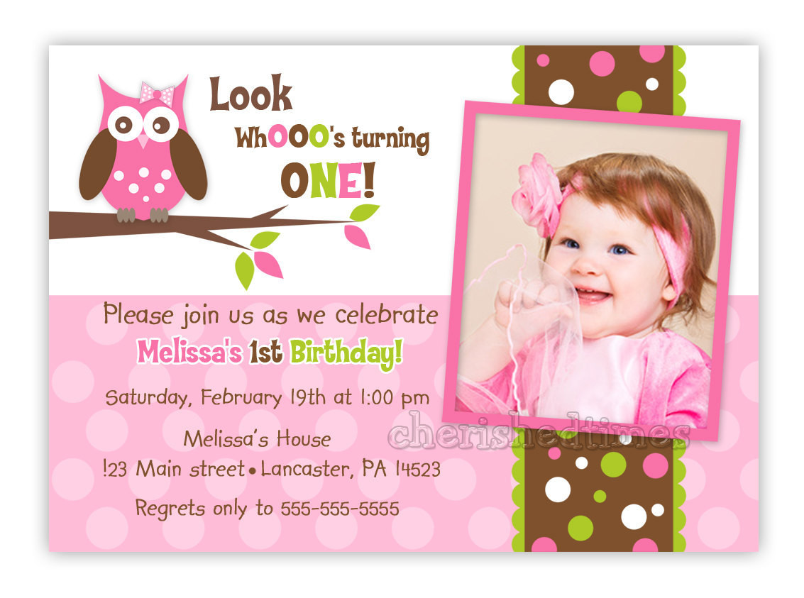 Best ideas about Custom Birthday Party Invitations . Save or Pin Custom Owl Birthday or Baby Shower Invitation Girl You Print Now.