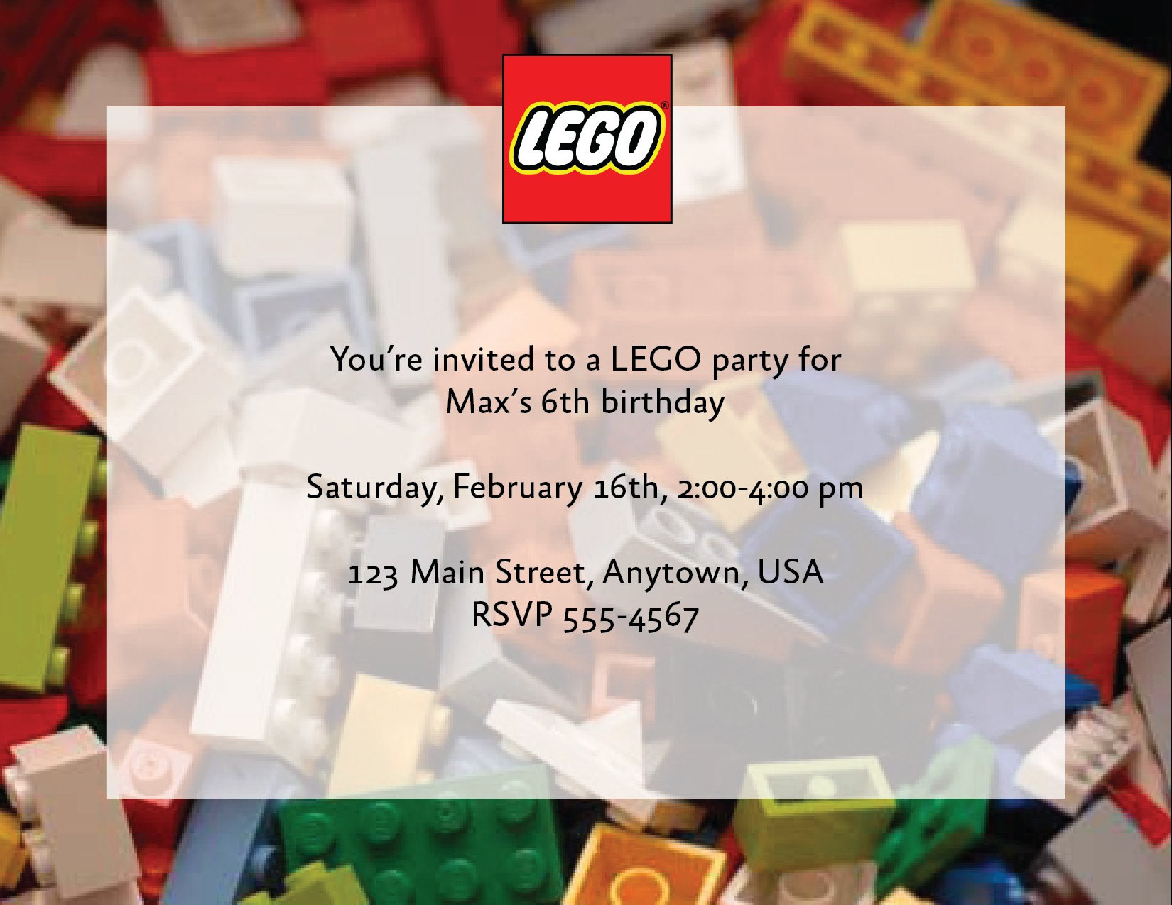 Best ideas about Custom Birthday Party Invitations . Save or Pin Custom Lego Birthday Party Invitations Now.