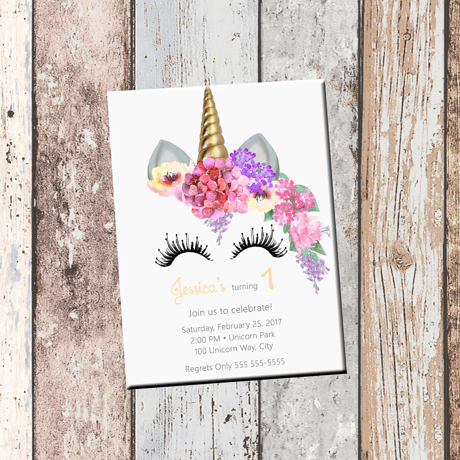 Best ideas about Custom Birthday Party Invitations . Save or Pin Unicorn Birthday Personalized Invitation 1 Sided Birthday Now.