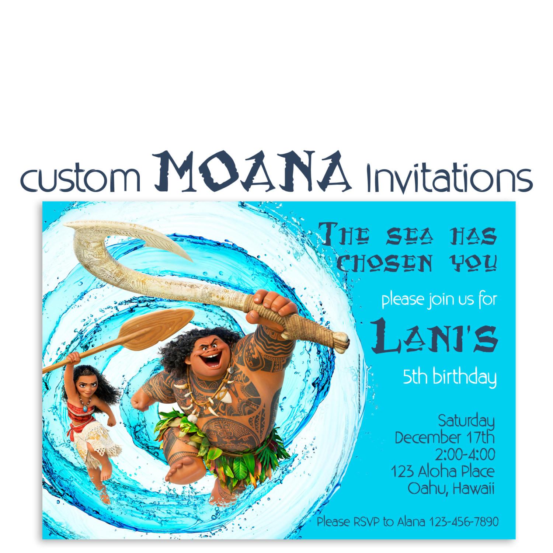 Best ideas about Custom Birthday Party Invitations . Save or Pin Moana Birthday Invitation Custom Hawaiian Princess Party Now.