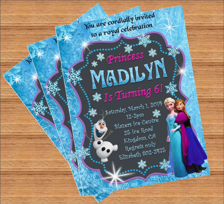 Best ideas about Custom Birthday Party Invitations . Save or Pin Frozen Birthday Invitation Custom Invitation Now.