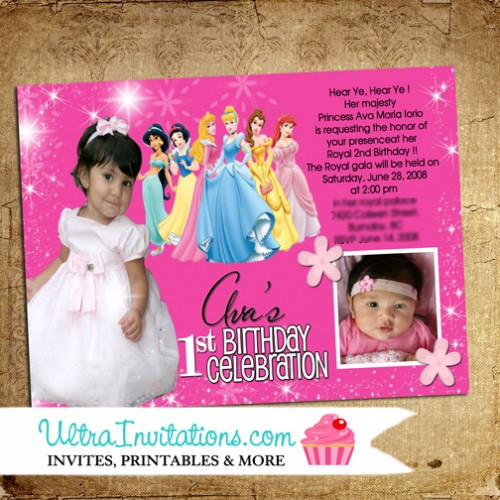 Best ideas about Custom Birthday Party Invitations . Save or Pin Princess Custom Personalized Birthday Invitations with Now.