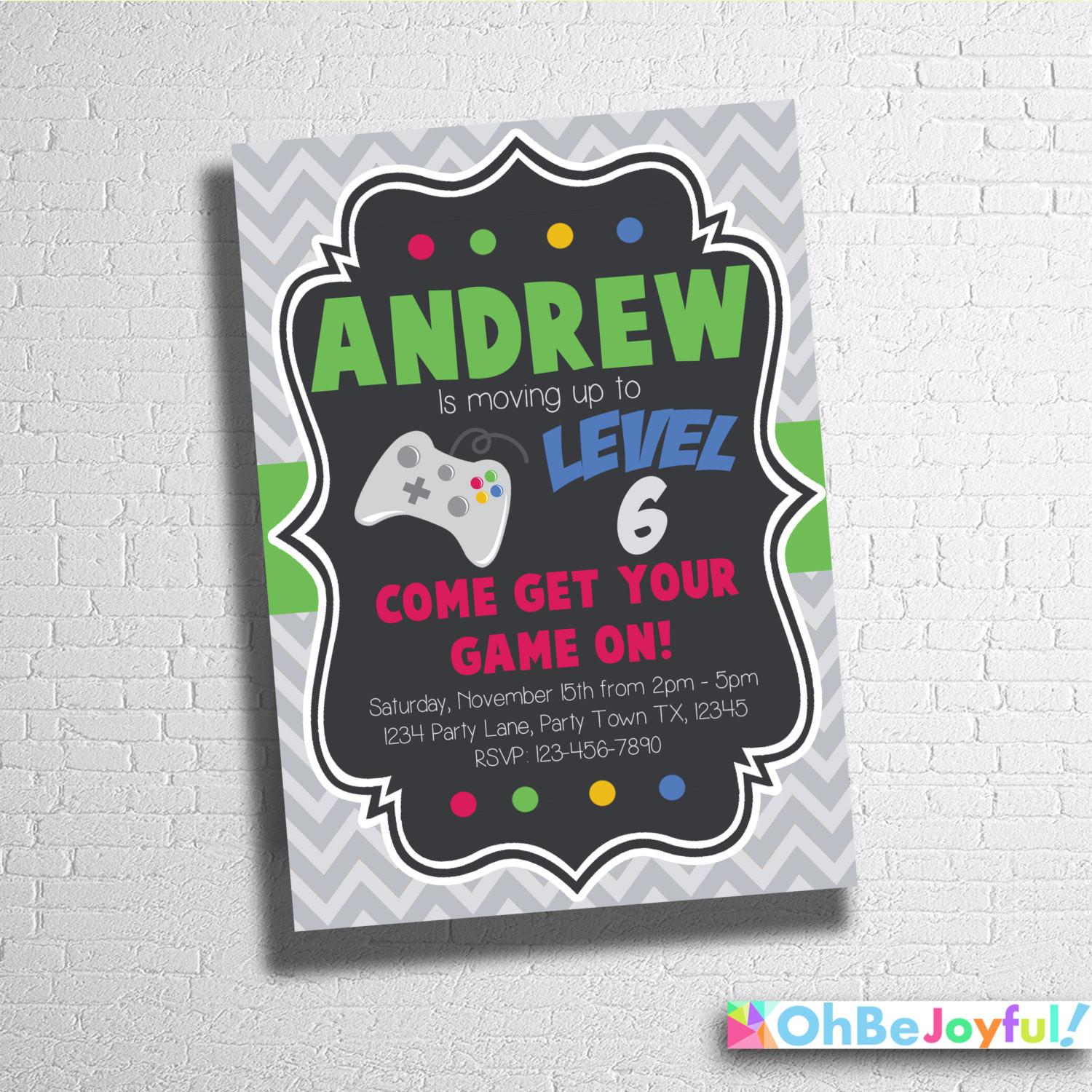 Best ideas about Custom Birthday Party Invitations . Save or Pin Video Game Birthday Invitation Custom video game Invitation Now.