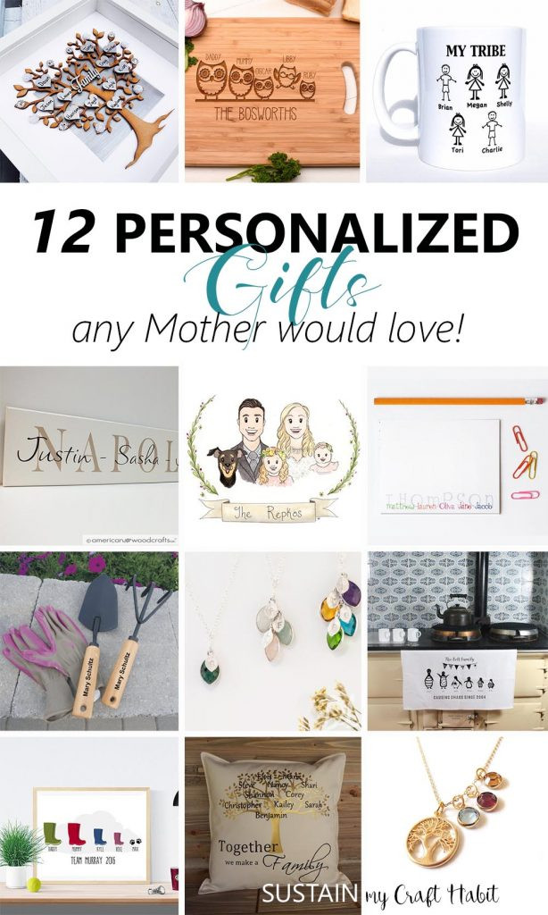 Best ideas about Custom Gift Ideas . Save or Pin 12 Thoughtful Personalized Gifts any Mother Would Love Now.