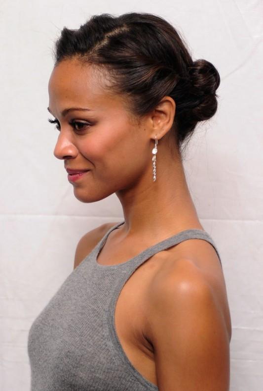 Best ideas about Cute African American Hairstyles . Save or Pin African American Daily Hairstyles Zoe Saldana Cute Now.