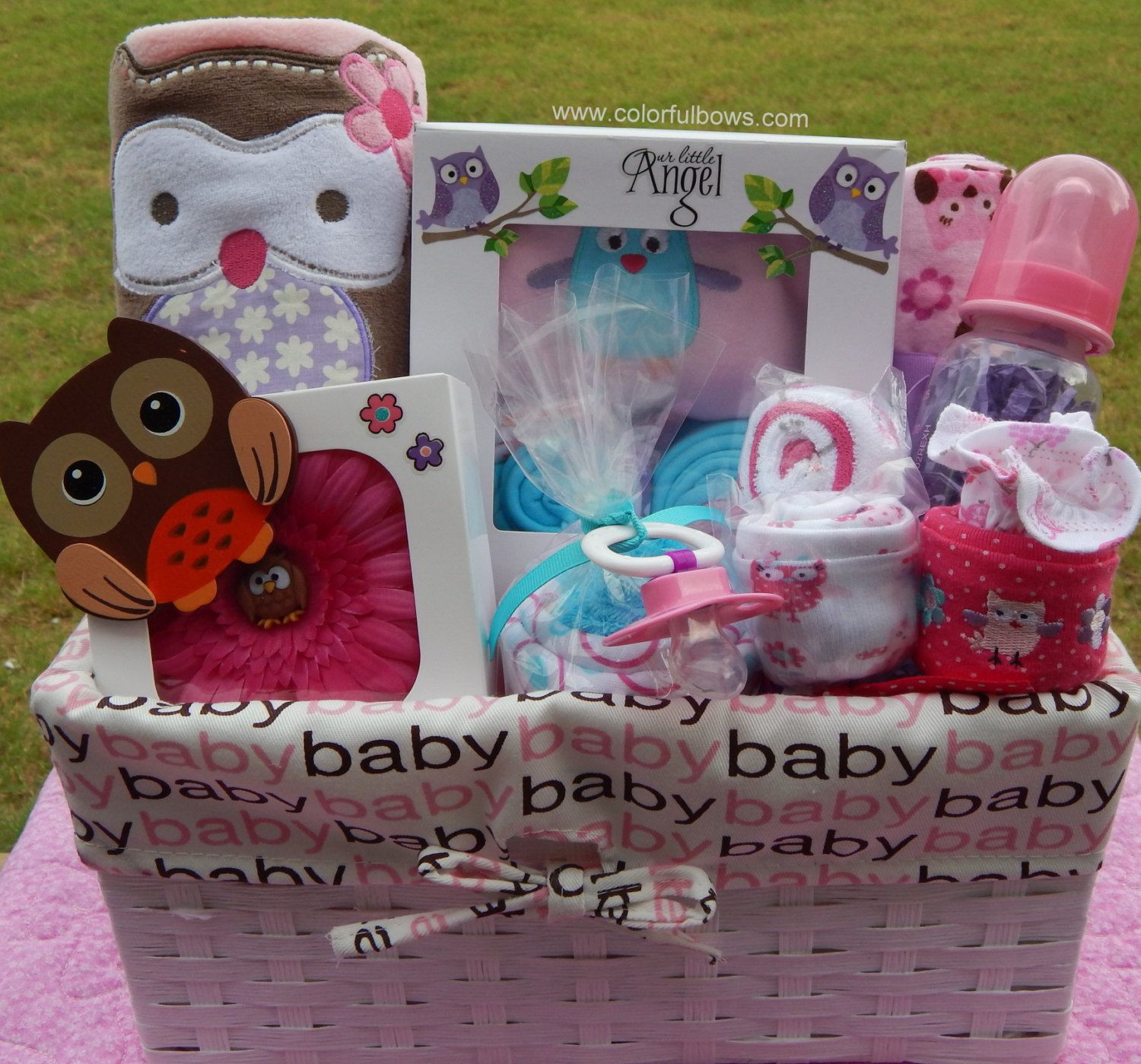 Best ideas about Cute Baby Shower Gift Ideas . Save or Pin Baby Owl Baby Shower Theme Premium Plus Baby Girl Gift Now.