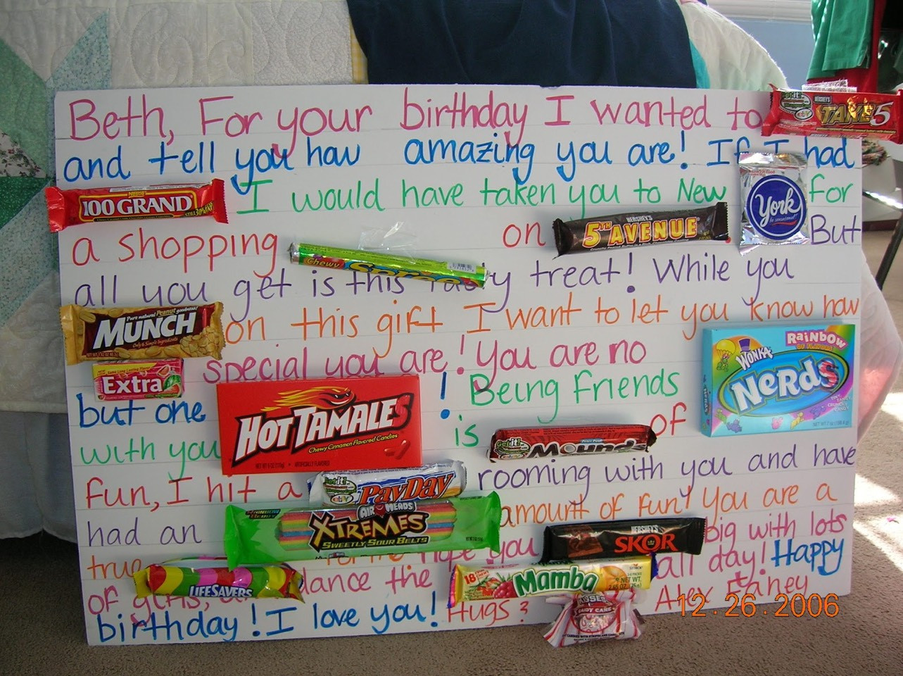 Best ideas about Cute Birthday Gift Ideas For Best Friend . Save or Pin Best Friend Birthday Gift Ideas 👭 by Charlotte D Musely Now.