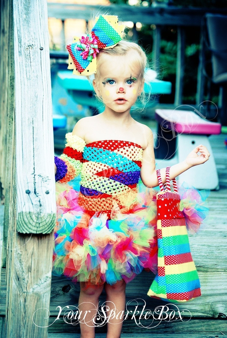 Best ideas about Cute DIY Halloween Costumes . Save or Pin Clown Costume Petti Tutu set plus legwarmers and bow via Now.