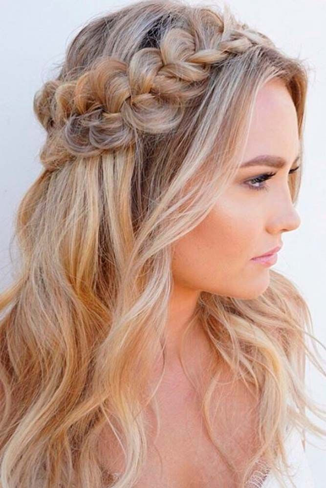 Best ideas about Cute Down Hairstyles For Long Hair . Save or Pin 18 Nice Holiday Half Up Hairstyles for Long Hair Now.