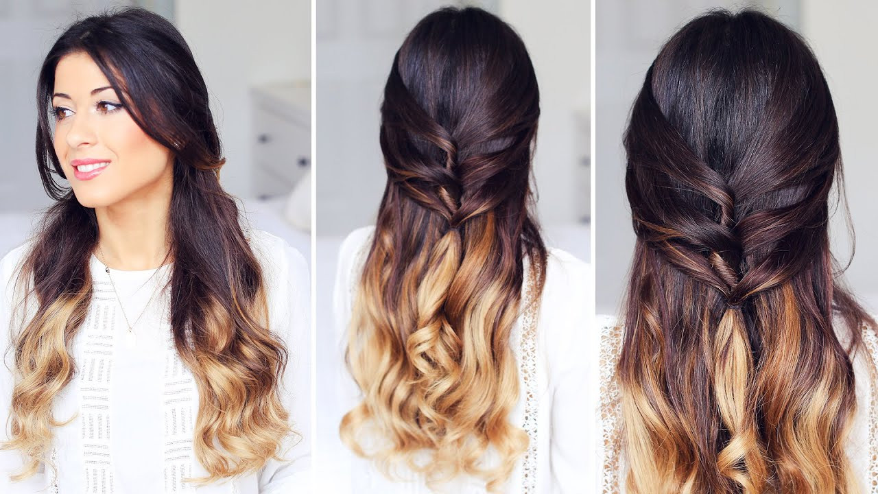 Best ideas about Cute Down Hairstyles For Long Hair . Save or Pin Cute Half Up Half Down Hairstyle Now.
