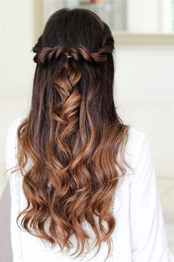 Best ideas about Cute Down Hairstyles For Long Hair . Save or Pin 20 Awesome Half Up Half Down Wedding Hairstyle Ideas Now.