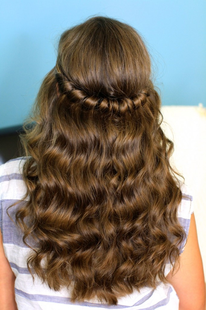 Best ideas about Cute Down Hairstyles For Long Hair . Save or Pin Headband Twist Half Up Half Down Hairstyles Now.