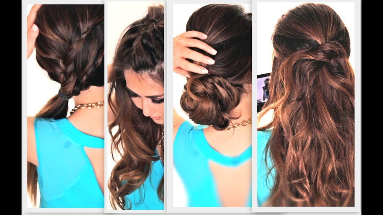 Best ideas about Cute Easy Simple Hairstyles . Save or Pin 6 EASY LAZY HAIRSTYLES Now.