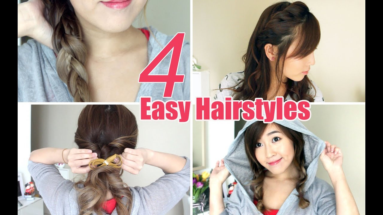 Best ideas about Cute Easy Simple Hairstyles . Save or Pin 4 Easy & Cute Hairstyles Now.