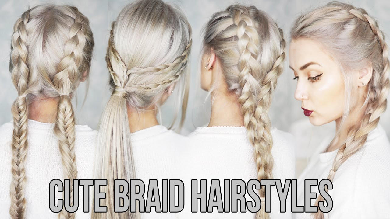 Best ideas about Cute Easy Simple Hairstyles . Save or Pin 3 CUTE & EASY Braid Hairstyles Now.