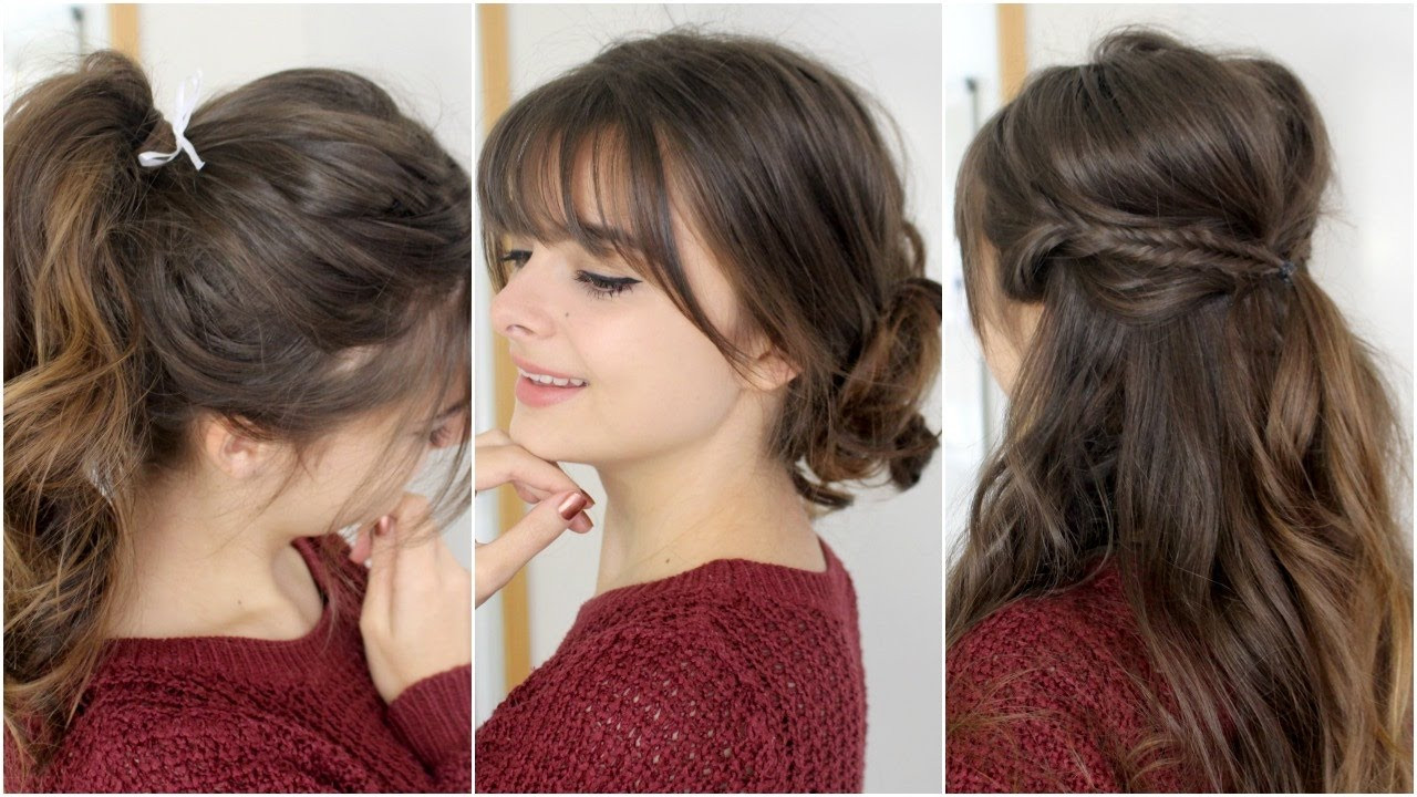 Best ideas about Cute Easy To Do Hairstyles . Save or Pin Cute Easy Hairstyles With Bangs Now.