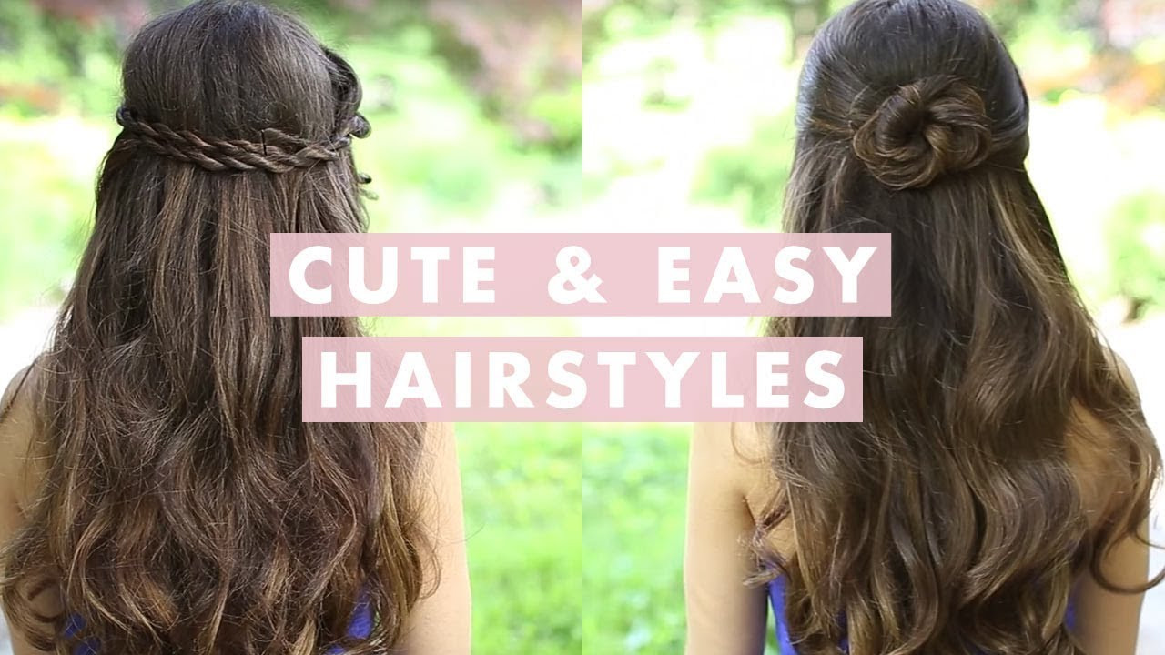 Best ideas about Cute Easy To Do Hairstyles . Save or Pin Cute and Easy Hairstyles Now.