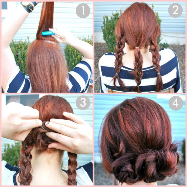 Best ideas about Cute Easy To Do Hairstyles . Save or Pin 17 Quick And Easy DIY Hairstyle Tutorials Now.
