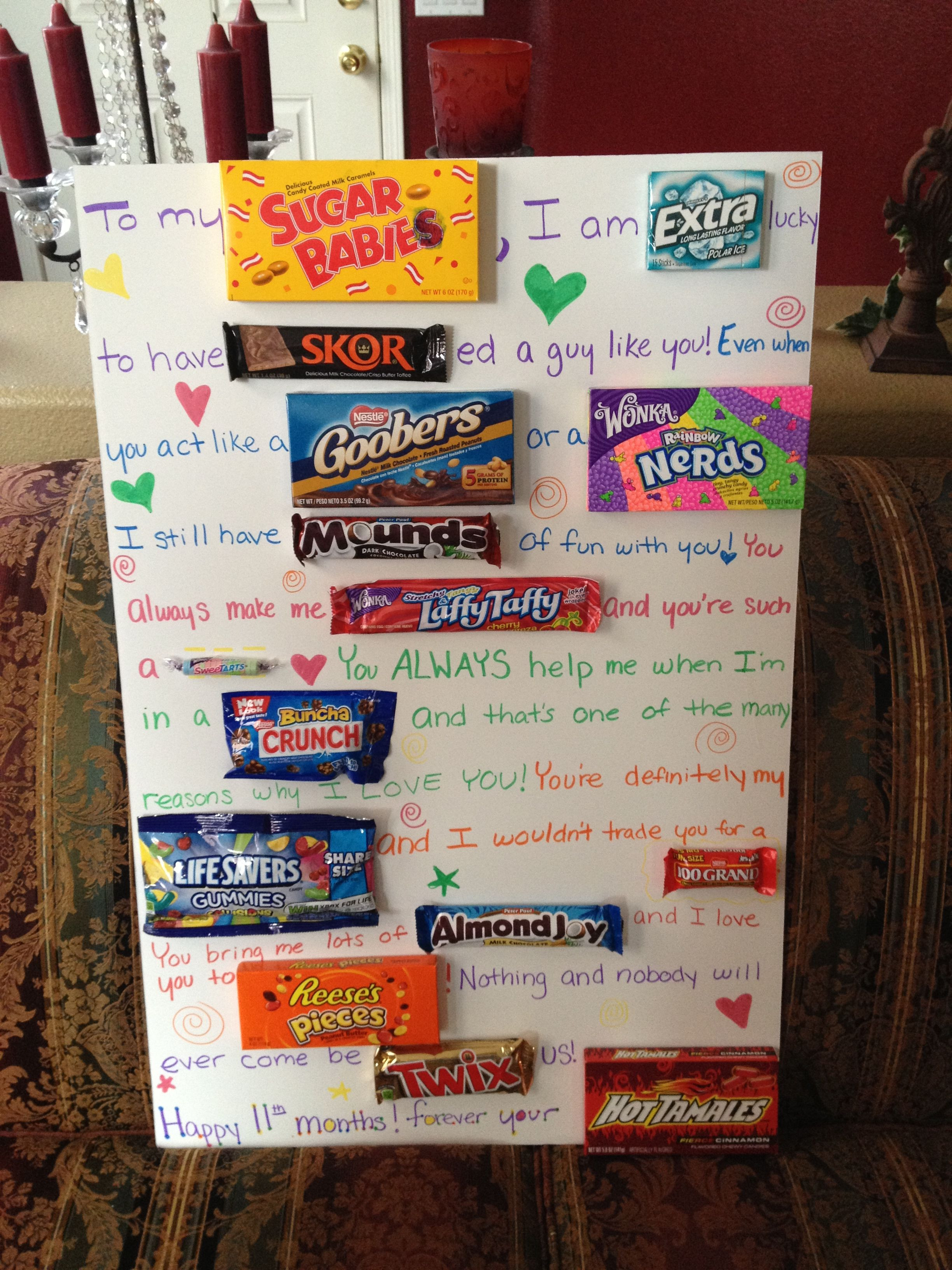 Best ideas about Cute Gift Ideas For Boyfriend . Save or Pin That s so creative but you have to all that candy Now.