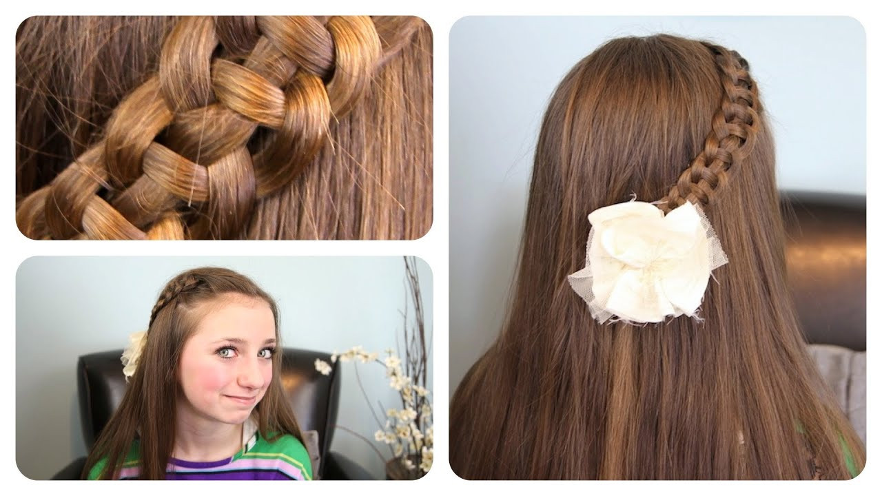 """Best ideas about Cute Girl Hairstyles Youtube . Save or Pin 4 Strand """"Slide Up"""" Braid Now."""