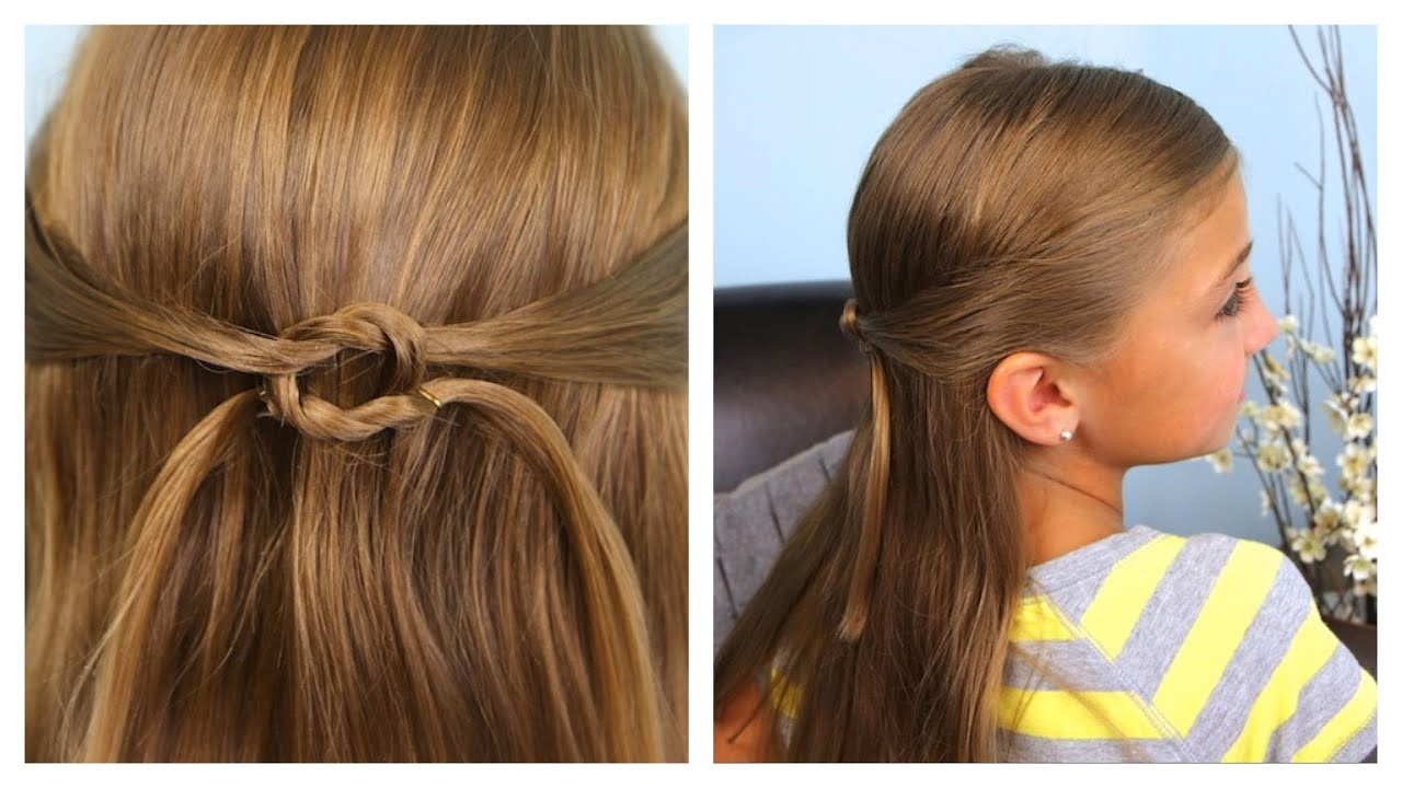 Best ideas about Cute Girl Hairstyles Youtube . Save or Pin Pullbacks into Square Knot Daddy Do Hairstyles Now.