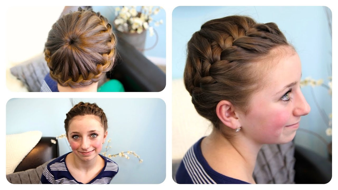 Best ideas about Cute Girl Hairstyles Youtube . Save or Pin Starburst Crown Braid Updo Hairstyles Now.