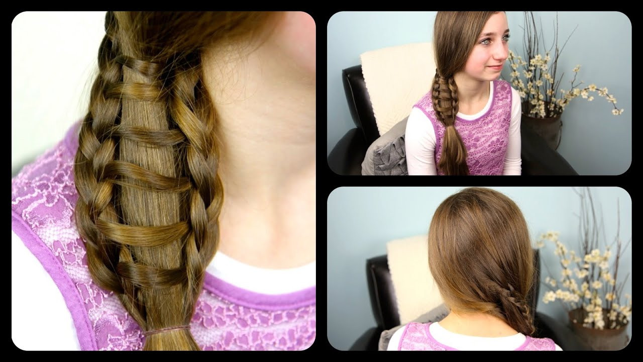 Best ideas about Cute Girl Hairstyles Youtube . Save or Pin Ladder Braid Side Ponytail Now.
