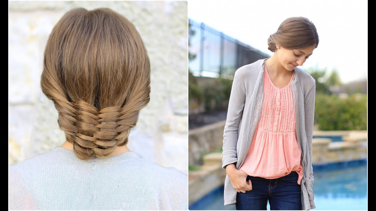 Best ideas about Cute Girl Hairstyles Youtube . Save or Pin The Woven Updo Now.