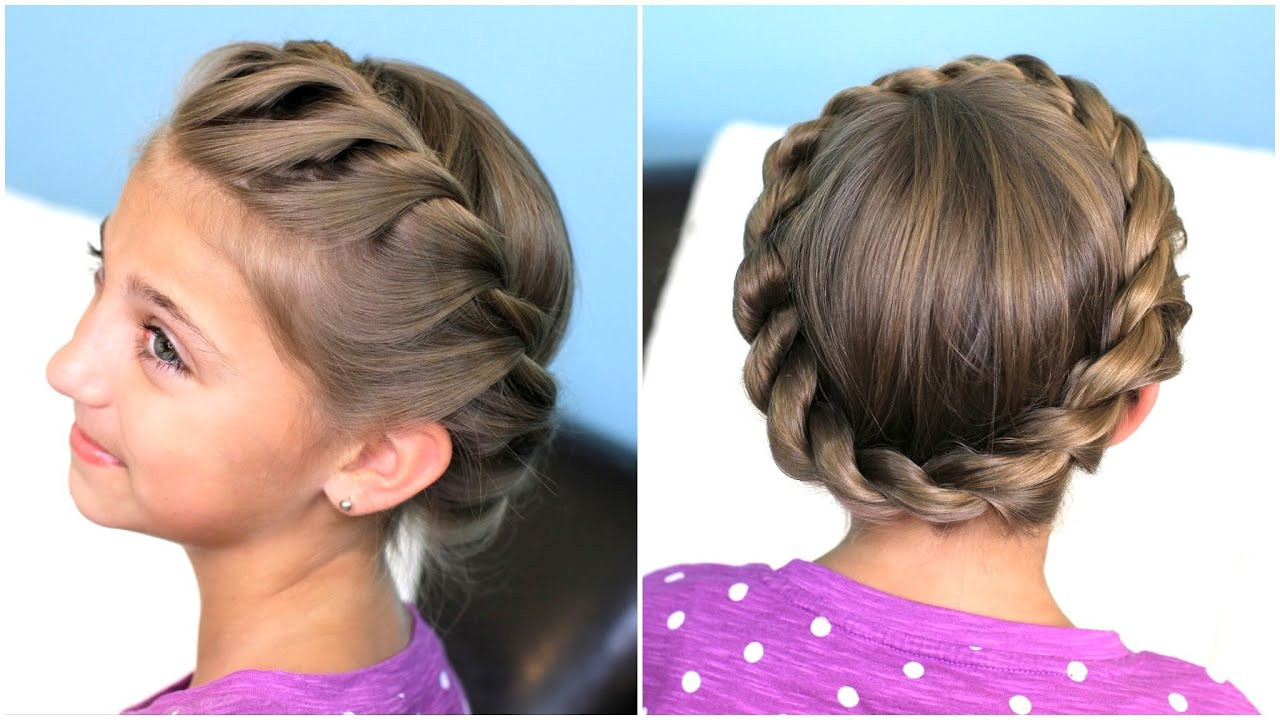 Best ideas about Cute Girl Hairstyles Youtube . Save or Pin How to create a Crown Twist Braid Now.