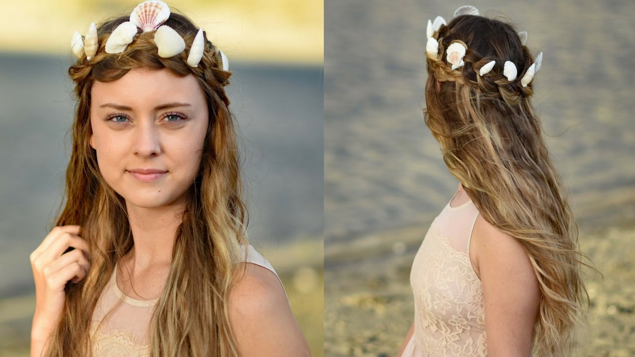 Best ideas about Cute Girl Hairstyles Youtube . Save or Pin Mermaid Crown Braid Halloween Hairstyles Now.