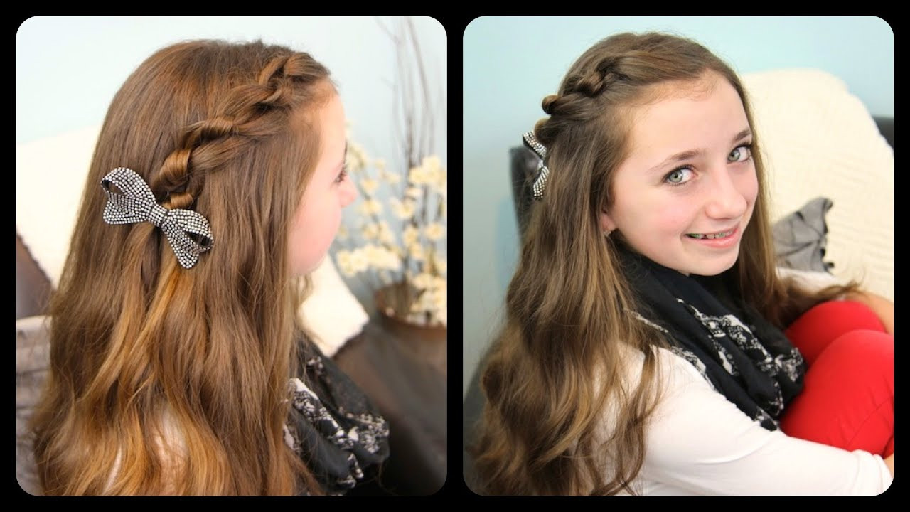 Best ideas about Cute Girl Hairstyles Youtube . Save or Pin The Knotted Pullback Now.