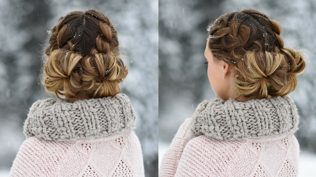 Best ideas about Cute Girl Hairstyles Youtube . Save or Pin Double French Buns Now.