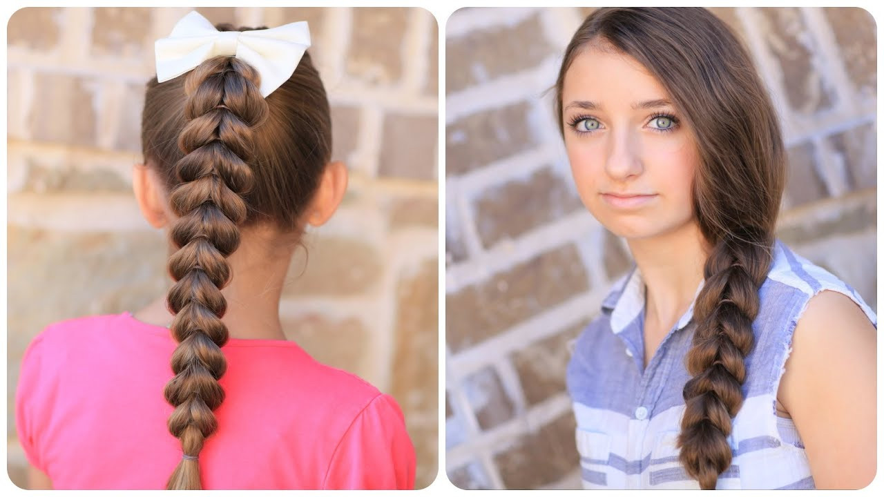 Best ideas about Cute Girl Hairstyles Youtube . Save or Pin How to create a Pull Through Braid Now.