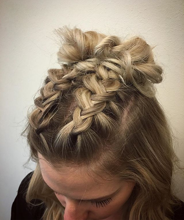 Best ideas about Cute Hairstyles For Concerts . Save or Pin double dutch braids finished into buns for this cute Now.