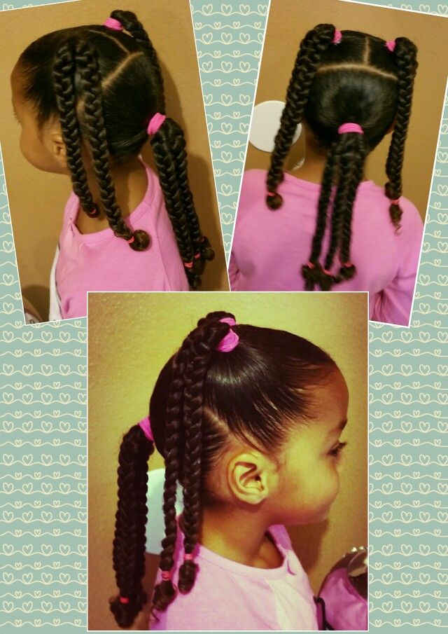 Best ideas about Cute Hairstyles For Mixed Girls . Save or Pin Mixed black braids girls kids curly curls natural hair Now.