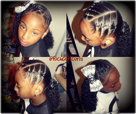 Best ideas about Cute Hairstyles For Mixed Girls . Save or Pin Mixed girls hairstyle natural Bella Pinterest Now.