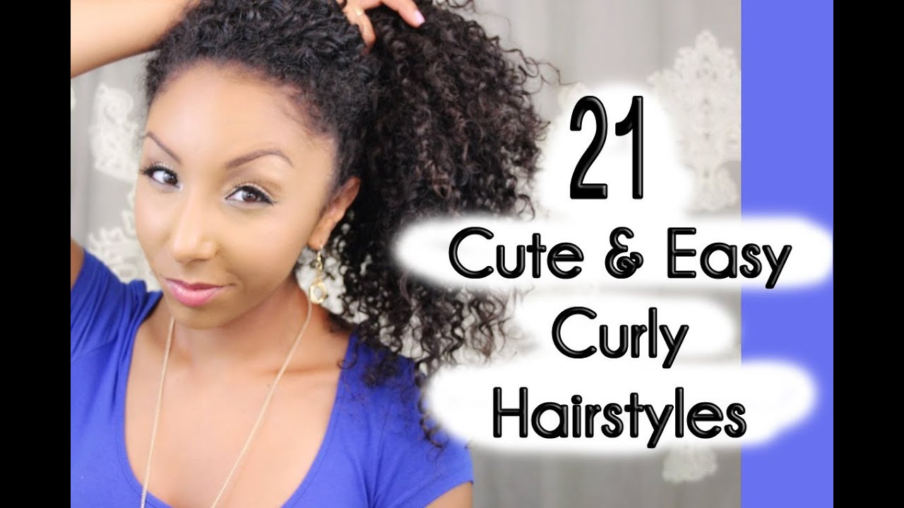 Best ideas about Cute Hairstyles For Mixed Hair . Save or Pin 21 Cute and Easy Curly Hairstyles Now.