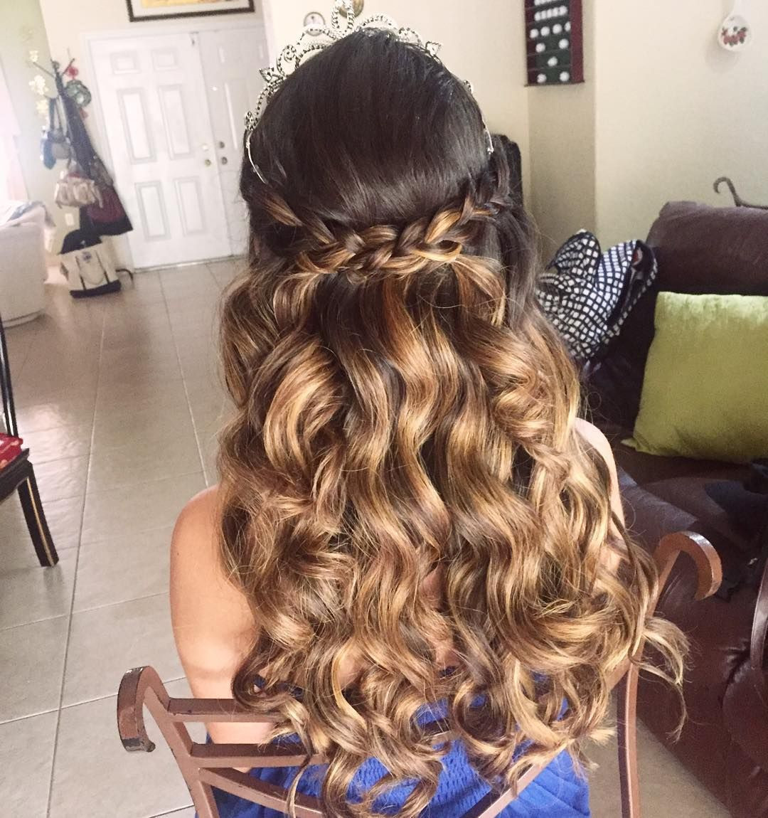 Best ideas about Cute Hairstyles For Quinceaneras . Save or Pin 20 Absolutely Stunning Quinceanera Hairstyles with Crown Now.