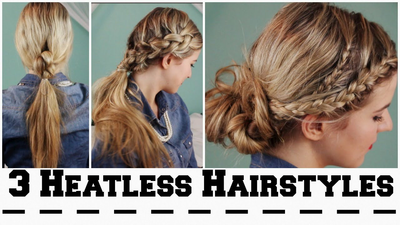 Best ideas about Cute Hairstyles For The First Day Of School . Save or Pin 3 Heatless Hairstyles for Back To School Now.