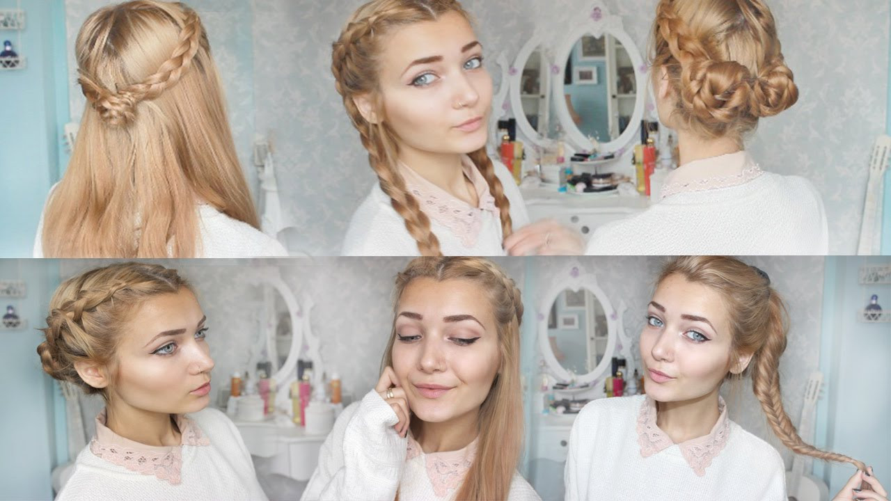 Best ideas about Cute Hairstyles For The First Day Of School . Save or Pin 4 Cute Braid Back To School Hairstyles Now.
