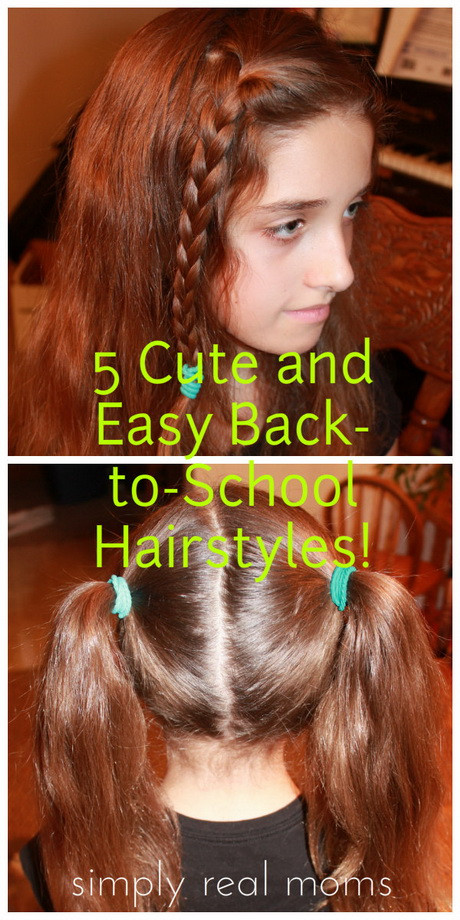 Best ideas about Cute Hairstyles For The First Day Of School . Save or Pin Cute school hairstyles for short hair Now.