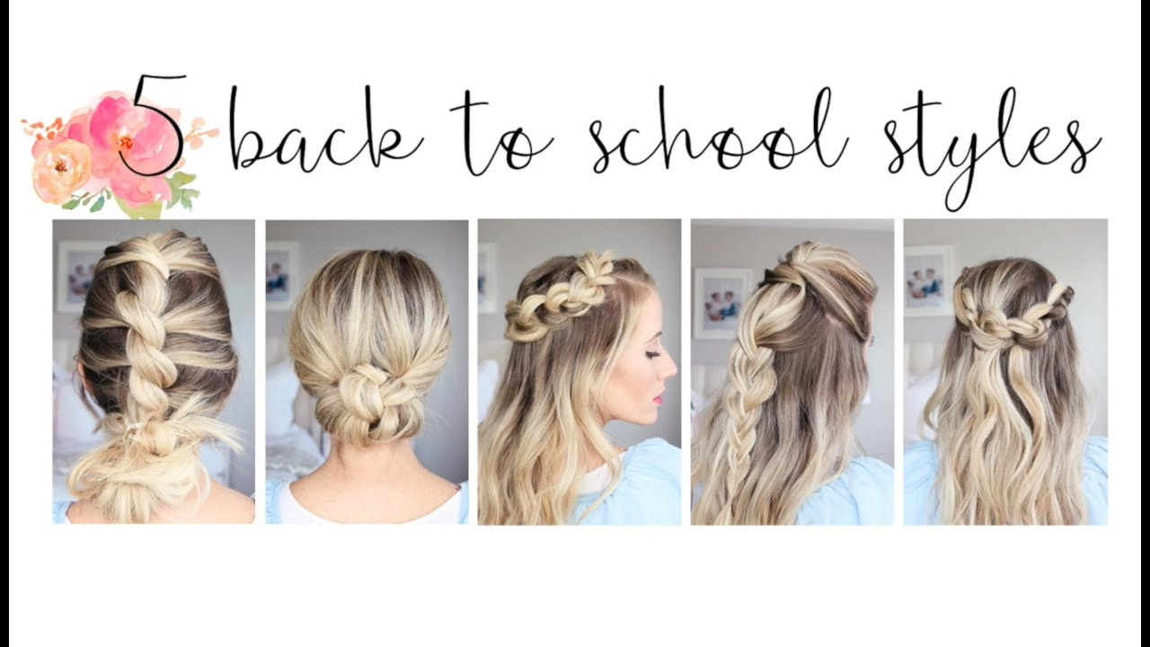 Best ideas about Cute Hairstyles For The First Day Of School . Save or Pin 5 Easy Back to School Hairstyles Now.